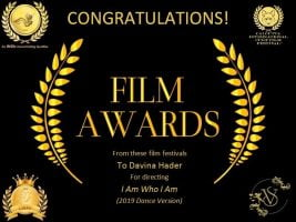 """Davina Hader has won more awards for directing Anna's """"I Am Who I Am (2019 Dance Version)"""" music video!"""